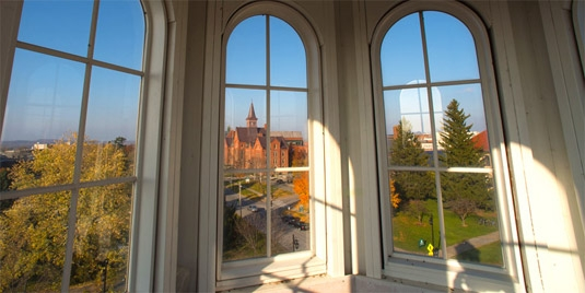 View from Ira Allen Chapel