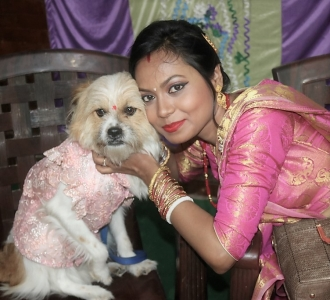 Ashma with her dog