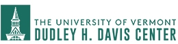"The Davis Center Logo with text that says ""University of Vermont, Dudley H. Davis center"""