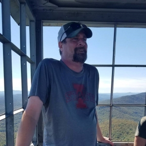 Eric at Mt. Elmore fire tower