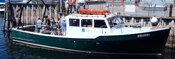 Melosira research vessel at dock