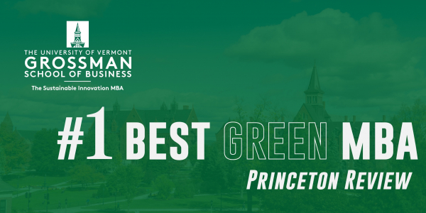 #1 Green MBA, Princeton Review