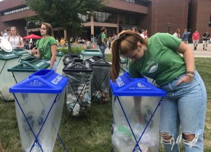 UVM eco-reps recycling trash