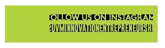 Follow us on Instagram at uvm innovation entrepreneurship