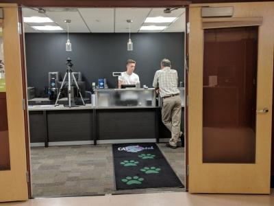 Interior of CATcard Service Center