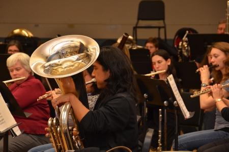 Vermont Wind Ensemble rehearsal