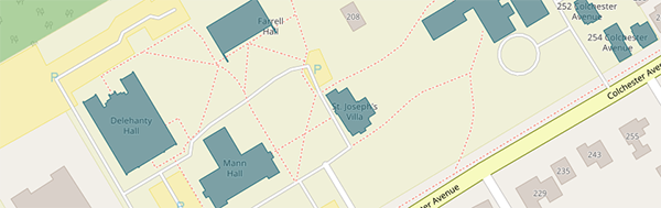 piece of the campus map