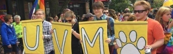 LGBTQA parade at UVM