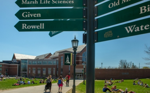 campus directional sign
