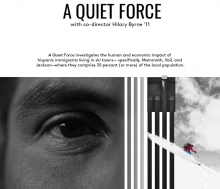 poster for A Quiet Froce, film by Hilary Byrne