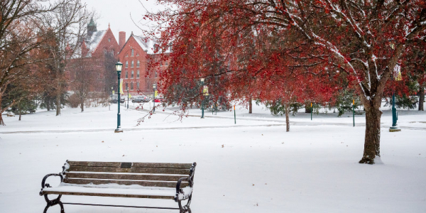 UVM winter campus
