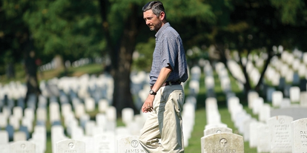 Greg Huse '94 walks the grounds at Arlington National Cemetery