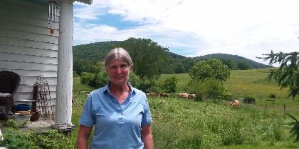 Cynthia Larson on her Wells, Vermont Farm