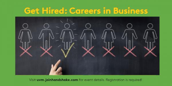 UVM, University of Vermont, Careers in Business, Get Hired Week, UVM Career Center