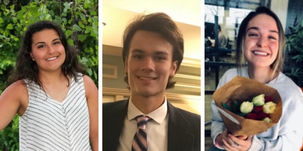 UVM, Grossman School of Business, Shelby Loura, Spencer Schell, Alaina Kamppila