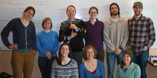 Deane Wang with group of Field Naturalist and Ecological Planning graduate students