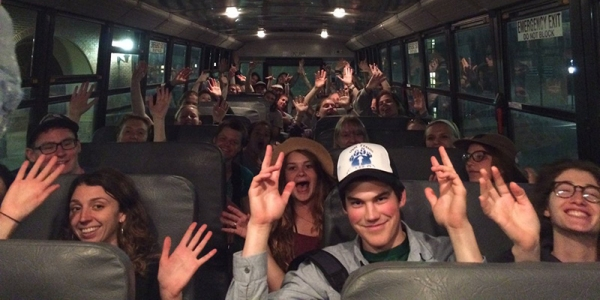 Students on bus
