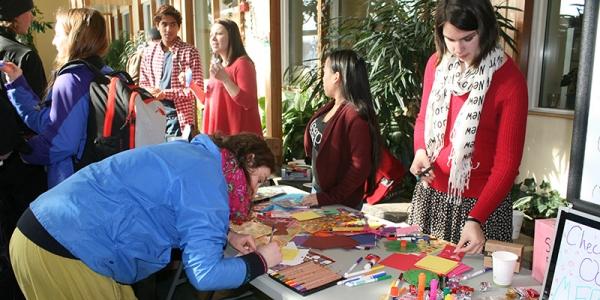 Rubenstein School Stewards host Valentine's Day event.