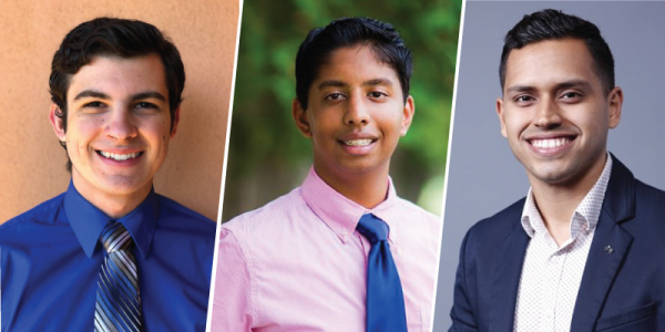 three male headshots