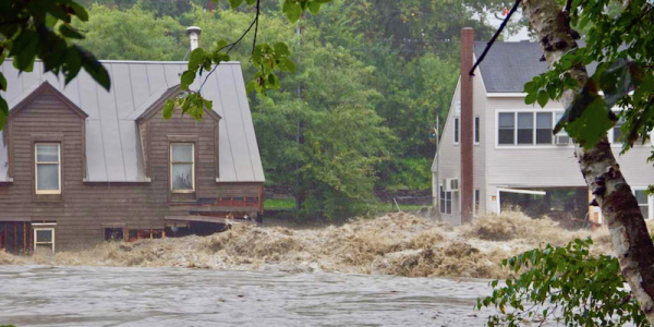 homes flooded by Tropical Storm Irene in August 2011
