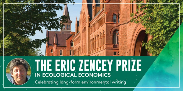 Marketing image for the Eric Zencey Prize in Ecological Economics