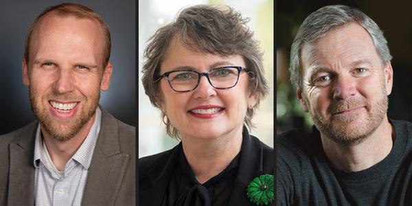 William Copeland, Mary Cushman and Taylor Ricketts.