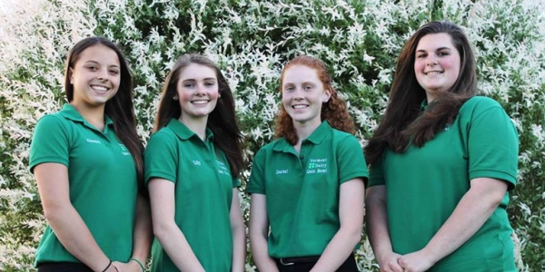 eastern states quiz bowl team made up of four 4-H members from around Vermont