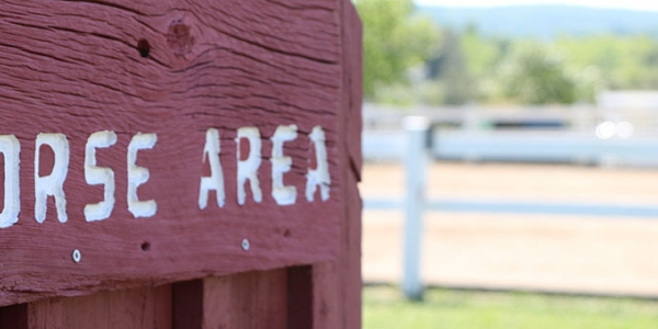 Sign saying horse area