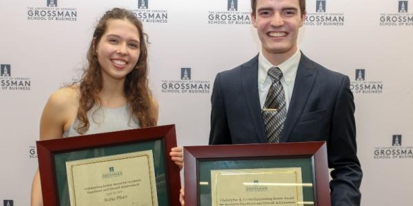 Maria Pitari and Isaac Desranleau, Honors Day 2019