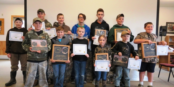 12 turkey call contest participants with awards