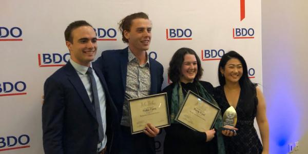 ICBC winning Grossman team, UVM, Grossman School of Business