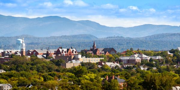 Panoramic photo of campus