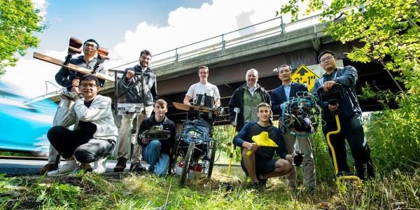 Photo of team working on next generation sensors