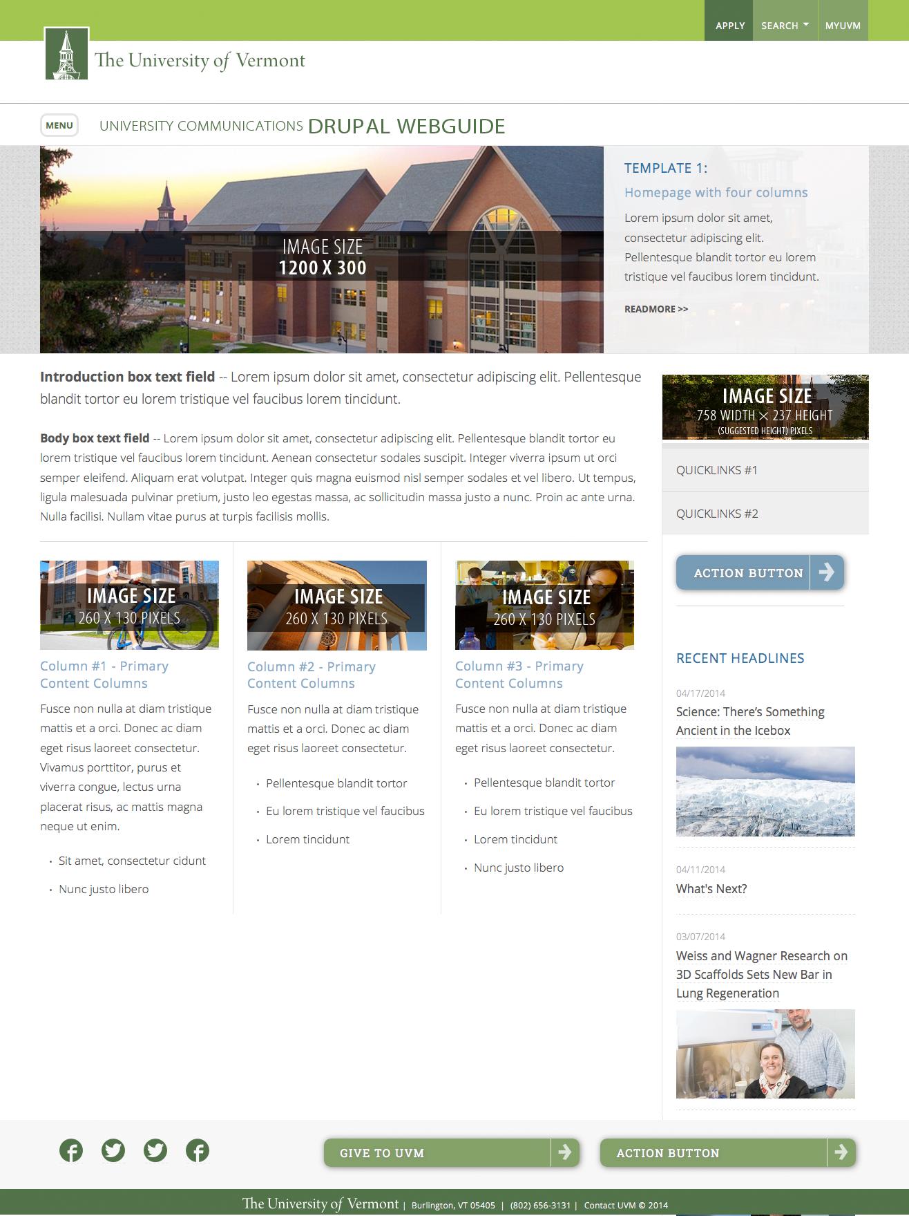 Uvm Website Design Guide