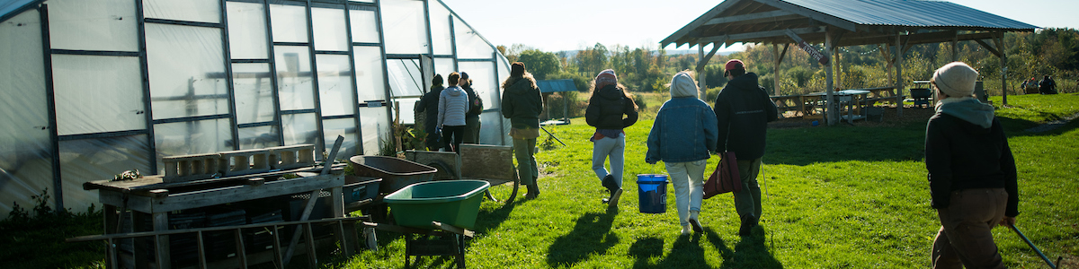 greenhouse and students
