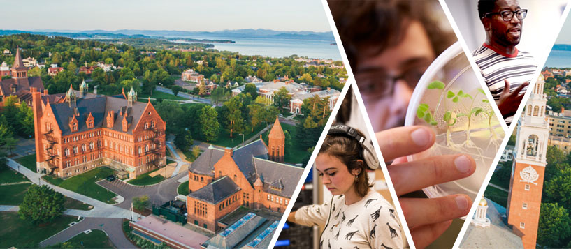 campus and student photos collage