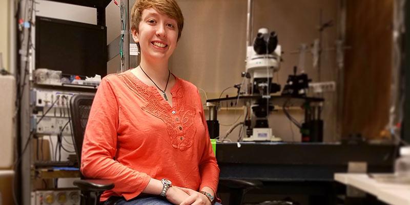 Ellen Wixted in her Michigan lab