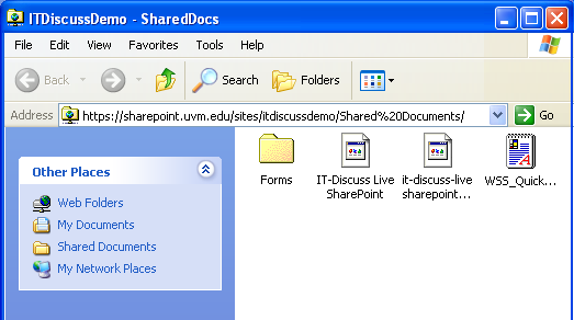 Document library open in explorer