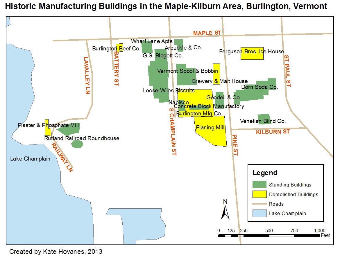 Manufacturing in the Maple-Kilburn Area of Burlington, Vermont on map of cabot ar, map of baton rouge la, map of boston mass, map of bentonville ar, map of concord nc, map of cookeville tn, map of chesapeake va, map of cedar park tx, map of burnsville mn, map of alexandria mn, map of cheyenne wy, map of arlington ma, map of boca raton fl, map of jackson hole wy, map of blue springs mo, map of concord ca, map of bossier city la, map of bismarck nd, map of boulder city nv, map downtown burlington vermont,