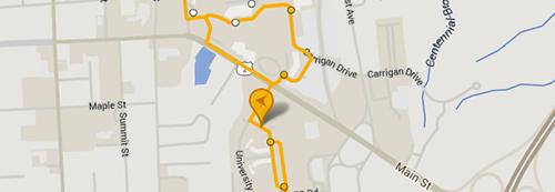 Maps : UVM Opening : University of Vermont Uvm Terrill Hall Campus Map on