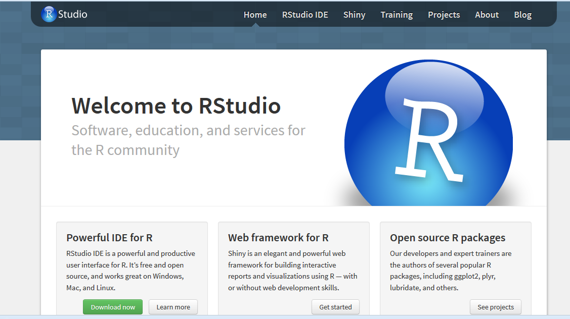 r studio download and install