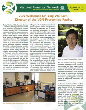 VGN Winter 2012 Newsletter
