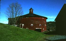An exceptionally handsome Round Barn in Barnet, VT