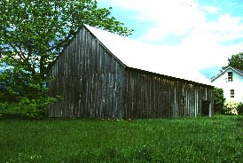 Weathered English Barn in St.Albans, Vermont